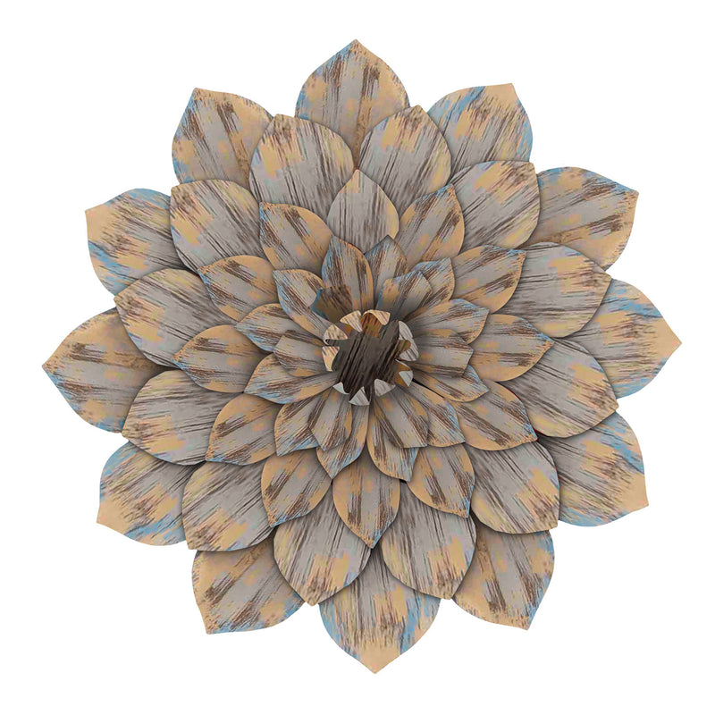 Distressed Dahlia Wall Decor