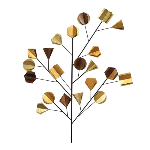 Metallic Origami Tree Wall Decor