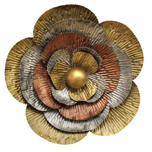 Tri Color Flower Blossom Wall Décor