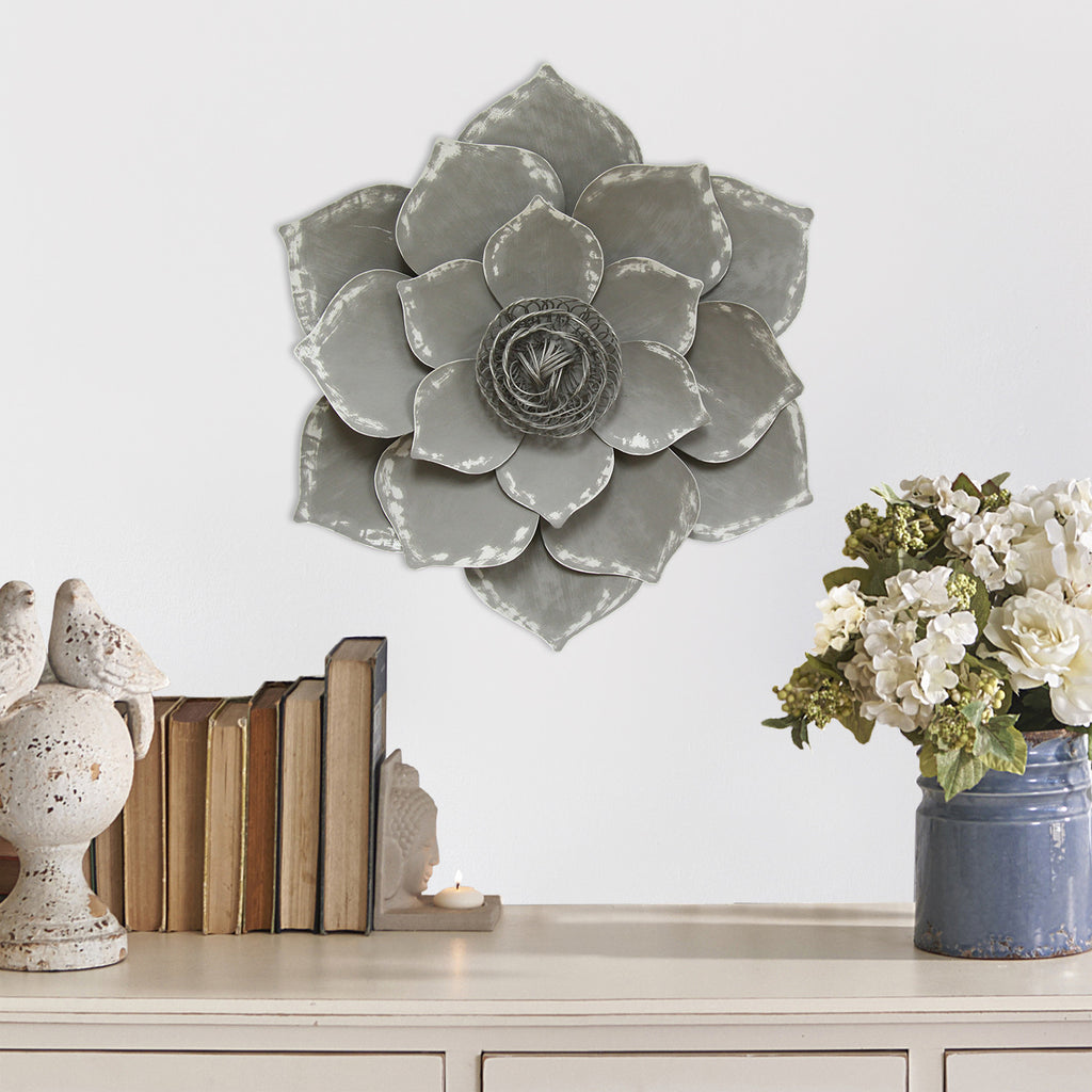 Grey Lotus Wall D 233 Cor Stratton Home Decor