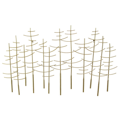 Golden Haze Forest Wall Decor