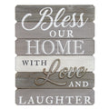 """Bless our home with love and laughter"" Wall Decor"