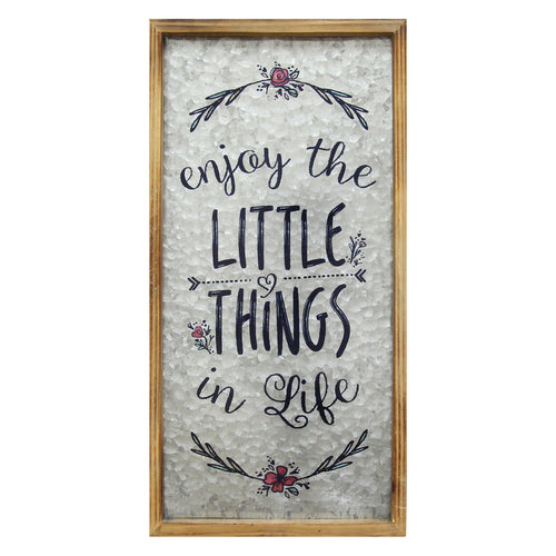 """Enjoy the little things in life"" Wall Decor"