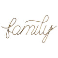 Family Wire Script Wall Decor