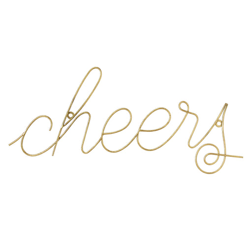 Cheers Wire Script Wall Decor