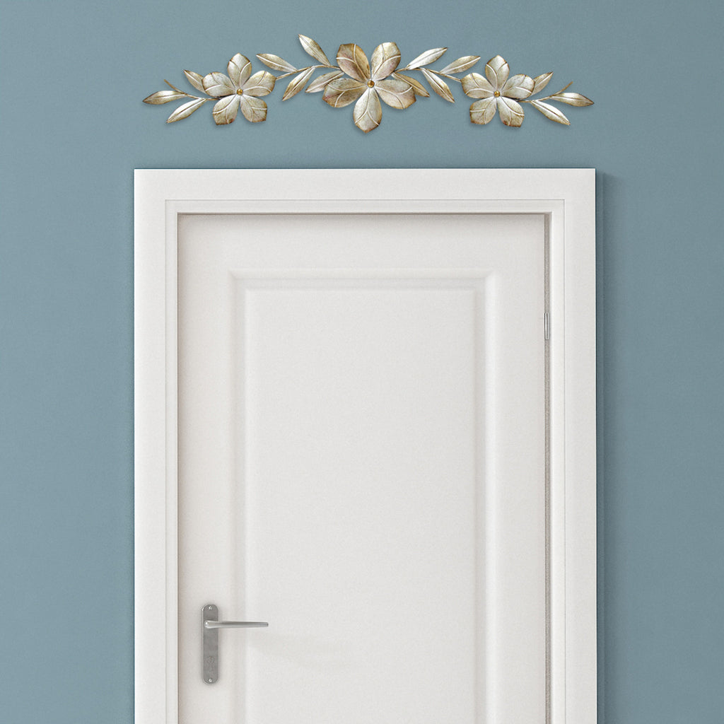 Champagne flower over the door wall d cor stratton home Images of wall decoration