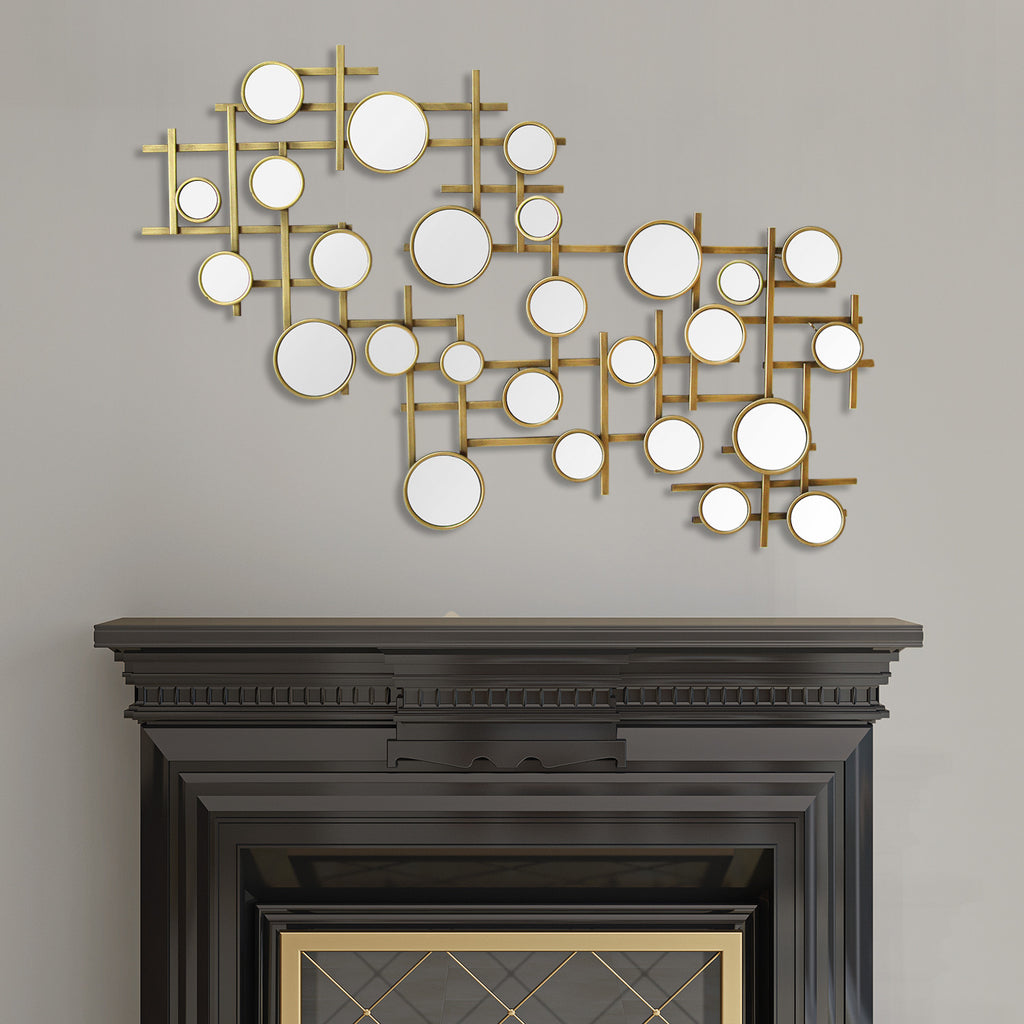 Home Interior Wall Decor: Elegant Mirror Cluster Wall Décor