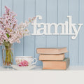 Family Wood Typography Wall Art