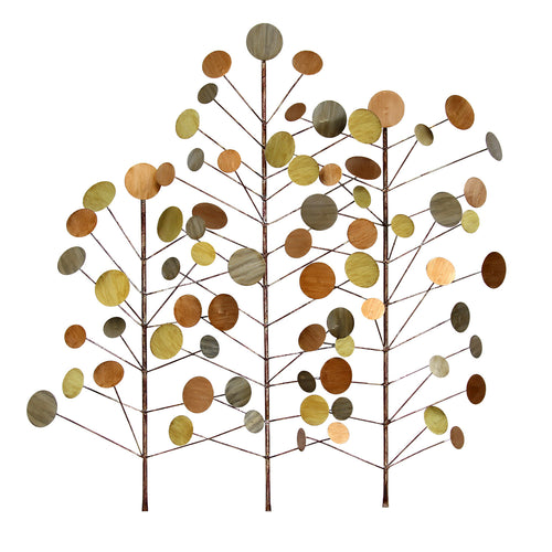 Dotted Woodland Metal Wall Décor