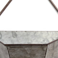 S/3 Triangular Galvanized Wall Planters