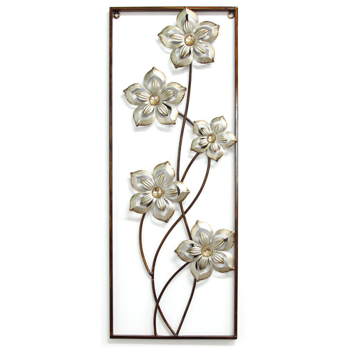 Champagne Bronze Floral Panel Wall Decor