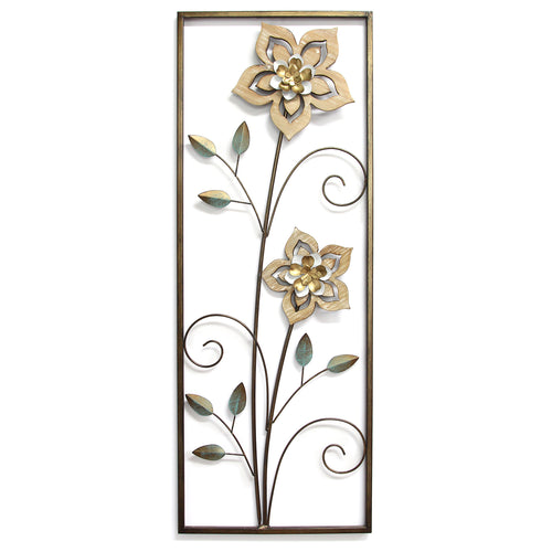 Wood Flower Panel wall Decor
