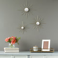 Set of 3 Gold Mirror Burst Wall Decor