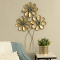 Golden Flower Bouquet Wall Decor