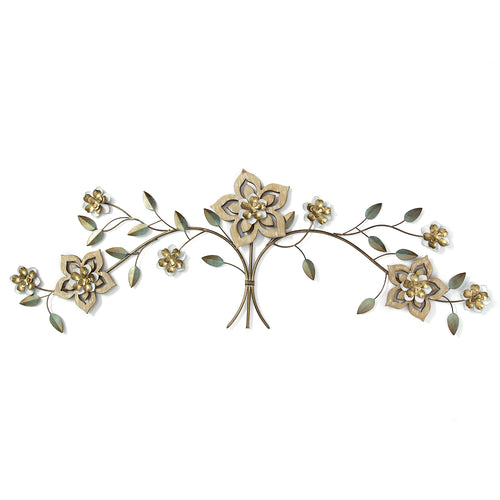 Wood Flower Over the Door Wall Decor