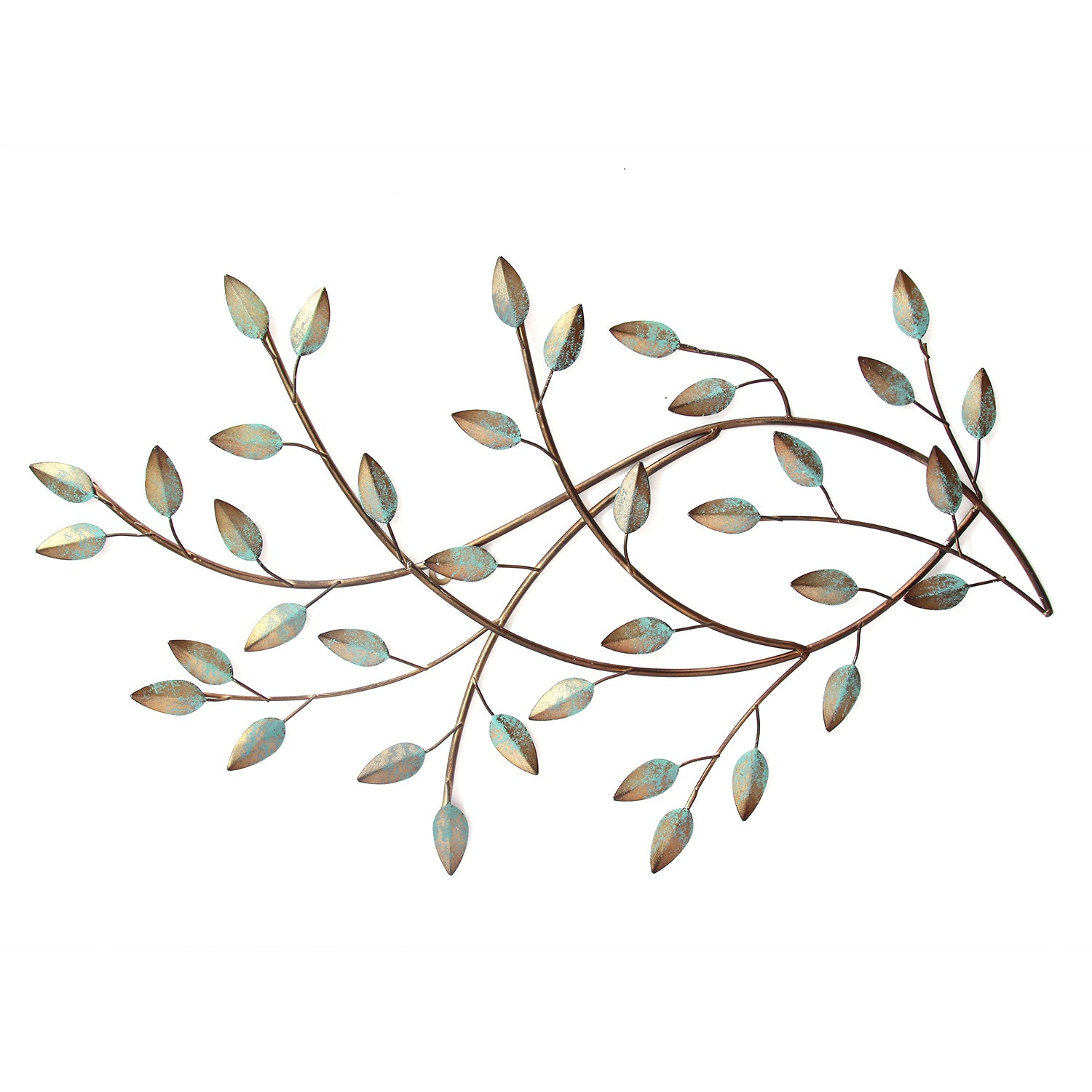 Patina Blowing Leaves Wall Decor