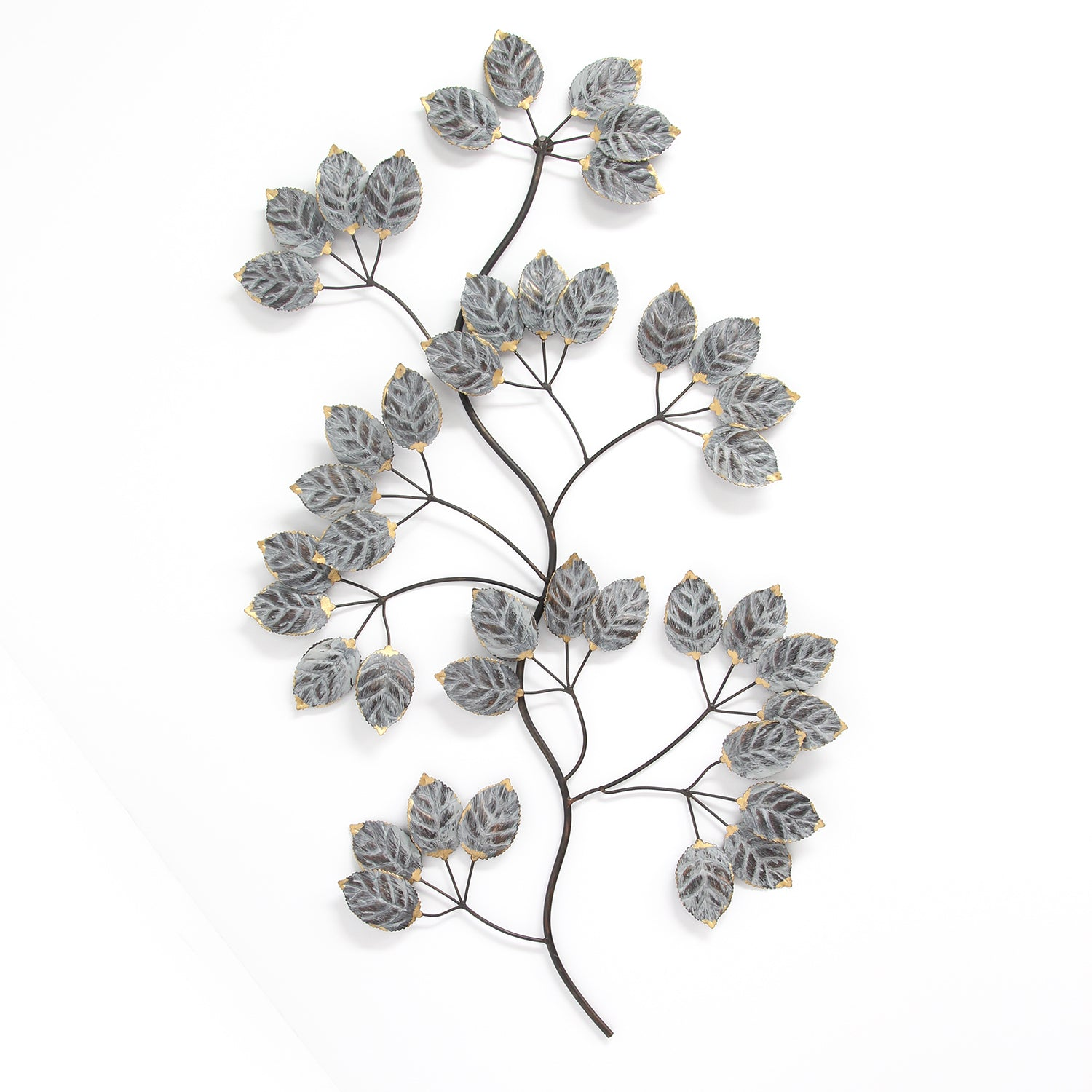 prod leaves wall metal hanging office sculpture details tree spin itm glow leaf decor home art branch