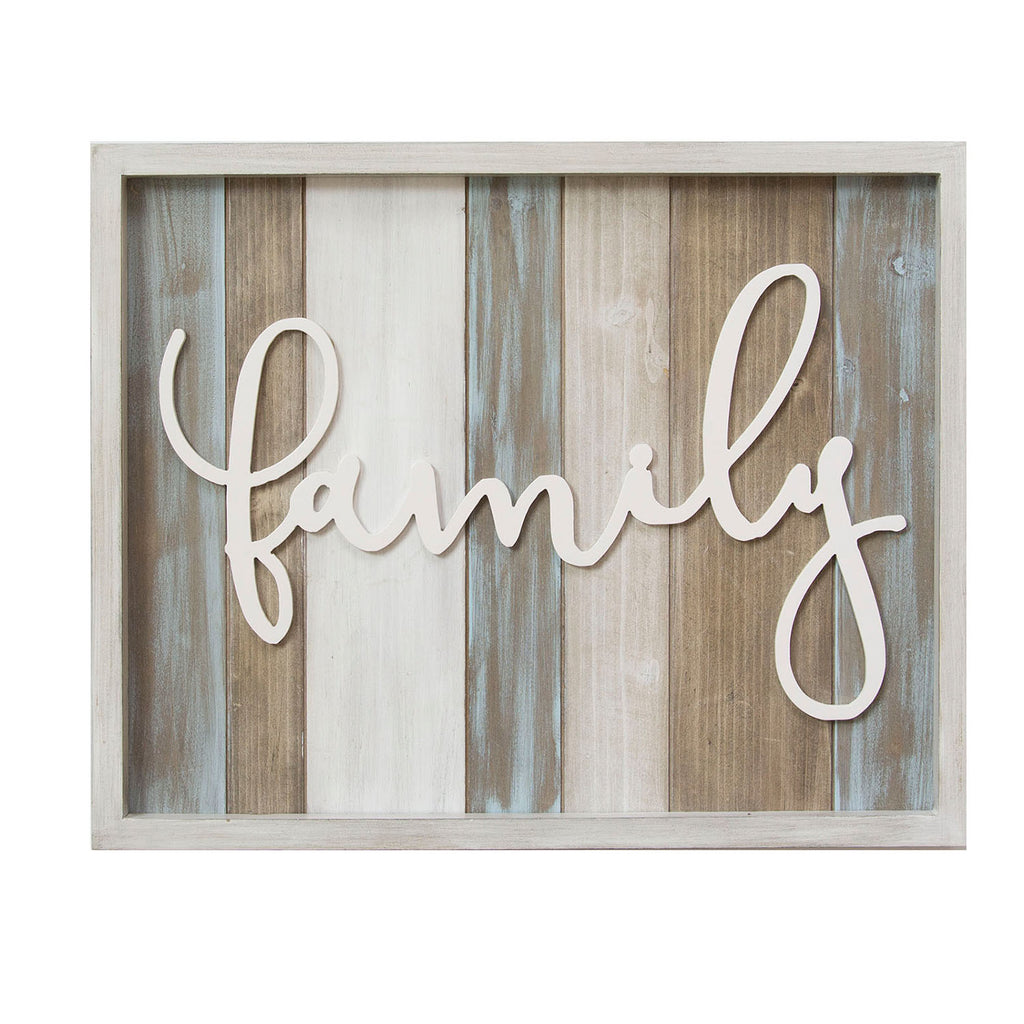 """Home Decor Wall Signs: Stratton Home Decor Rustic """"family"""" Wood Wall Decor"""