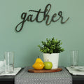 Black Gather Script Wall Decor