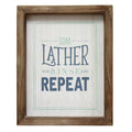 Soap Lather Rinse Repeat Wall Art