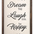 Live, Dream, Laugh, Happy, Love Wall Decor