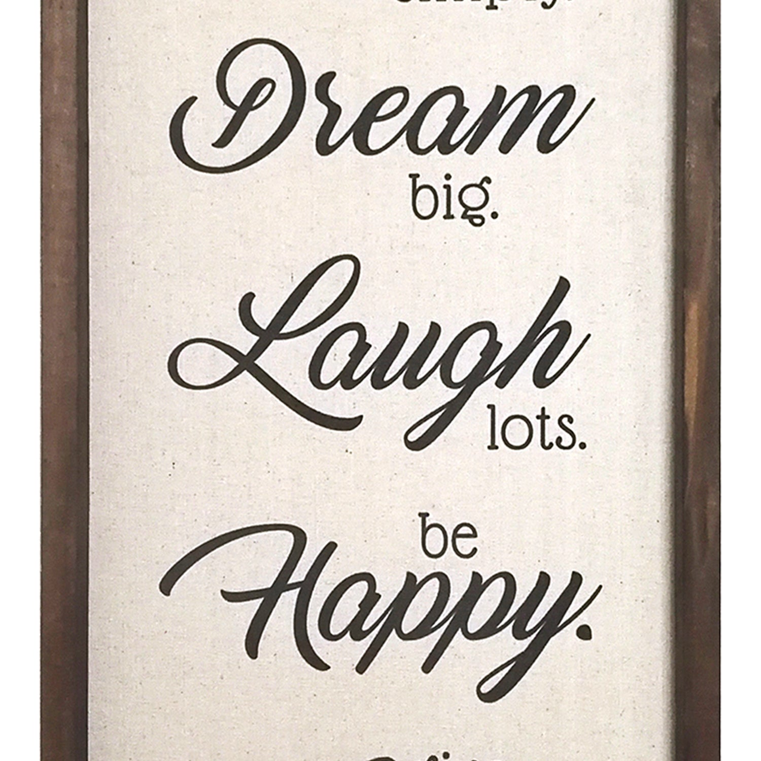 Stratton Home Decor Live Dream Laugh Happy Love Wall Decor