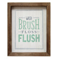 """Wash Brush Floss Flush"" Wall Art"