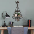 Teepee Shelf and Hook Wall Décor