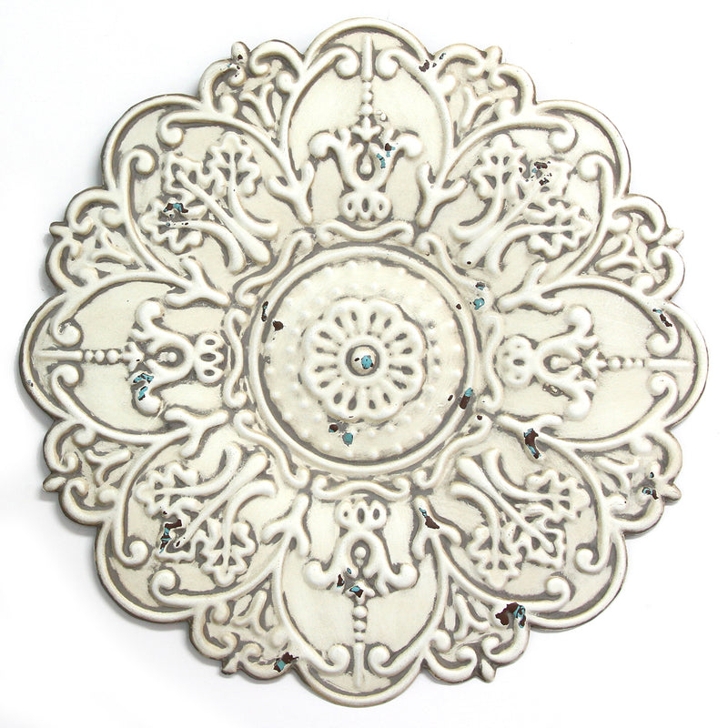 Small White Medallion Wall Décor