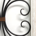 Distressed White Scroll Panel Wall Décor
