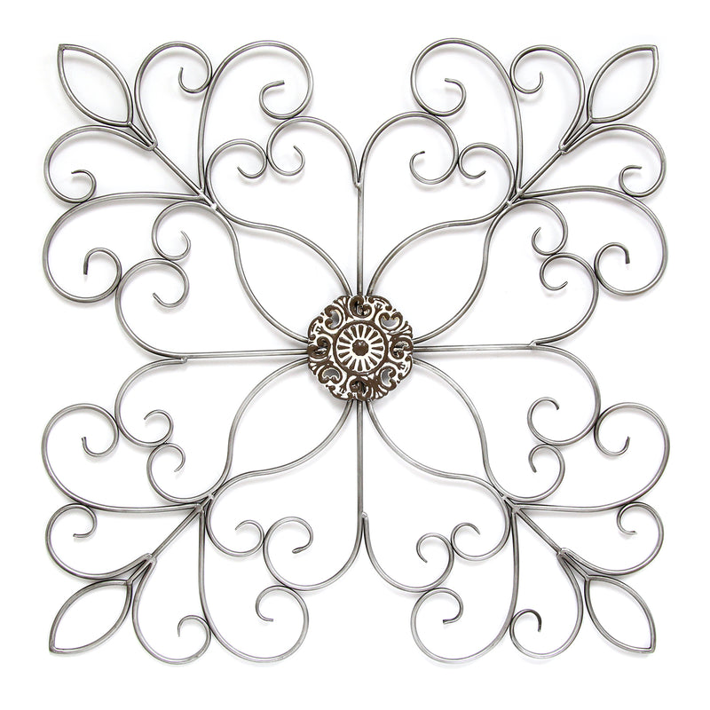 Silver Square Medallion Wall Décor