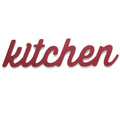 Red Kitchen Wood Word Décor