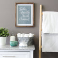 Relax, Breathe, Soak, Unwind Framed Bath Art