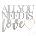 All You Need is Love Metal Word Wall Décor