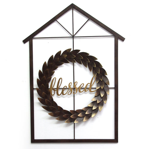 Blessed Wreath & House Wall Decor