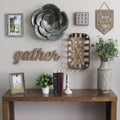 Galvanized Flower Wall Decor