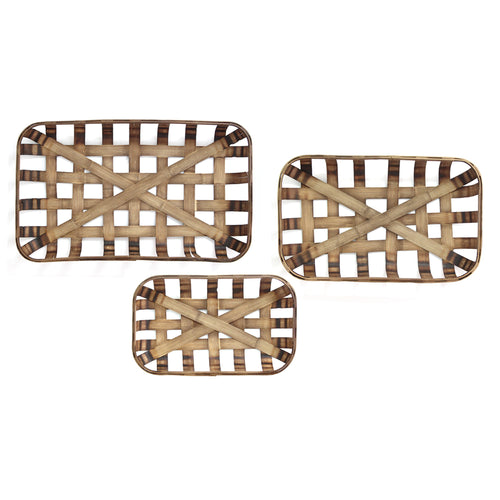 Set of 3 Tobacco Baskets
