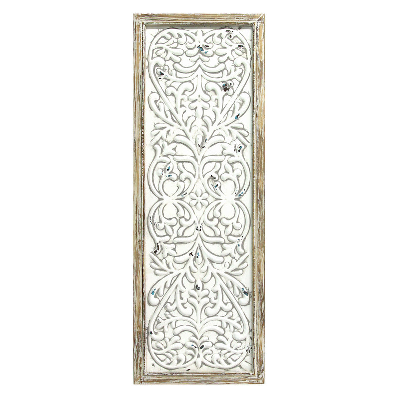 Rustic Framed Embossed Metal Panel