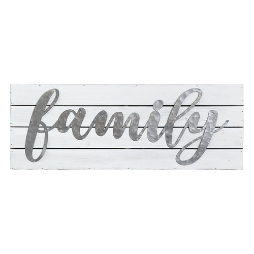 Galvanized Family Planked Sign