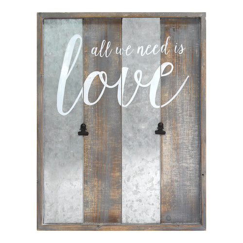 "Stratton Home Decor ""All We Need is Love"" Photo Clips Wall Decor"