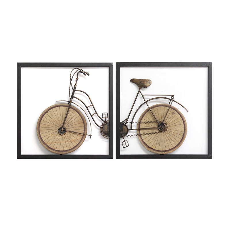 Stratton Home Decor 2-Piece Industrial Bike Wall Art