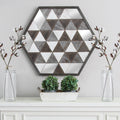 Stratton Home Decor Wood and Mirror Modern Wall Art