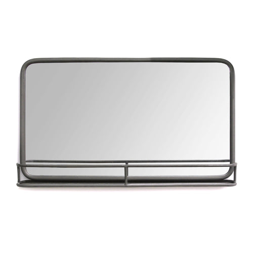 Stratton Home Decor Mason Metal Mirror with Shelf