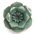 Stratton Home Decor Dark Teal Flower