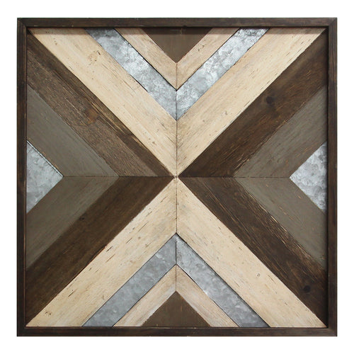 Stratton Home Decor Modern Wood & Metal Wall Art