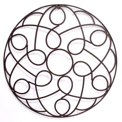 Stratton Home Decor Metal Scroll Medallion
