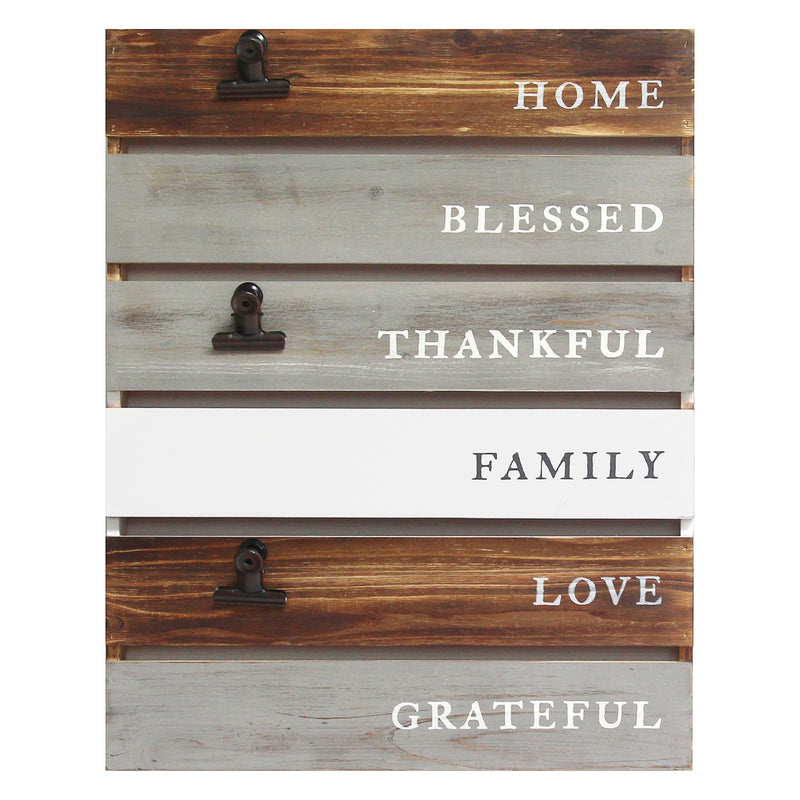 Stratton Home Decor Inspirational Planked Wood Wall Decor
