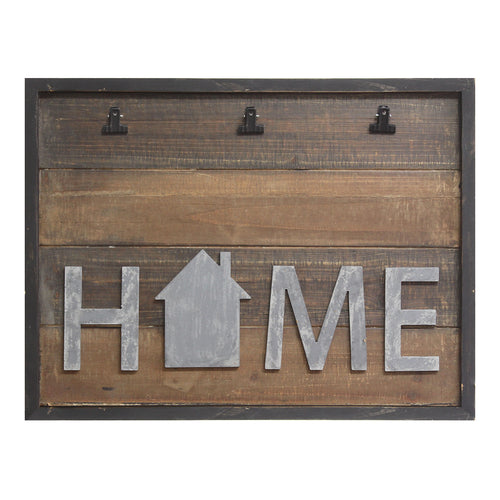 "Stratton Home Decor ""Home"" 3-Clip Photo Collage Frame"