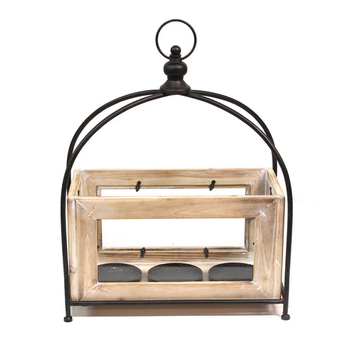 Stratton Home Decor Rustic Lantern Centerpiece