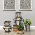 Stratton Home Decor Set of 2 Metal Lanterns